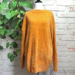 Zenana Premium Mustard Chunky Sweater Top